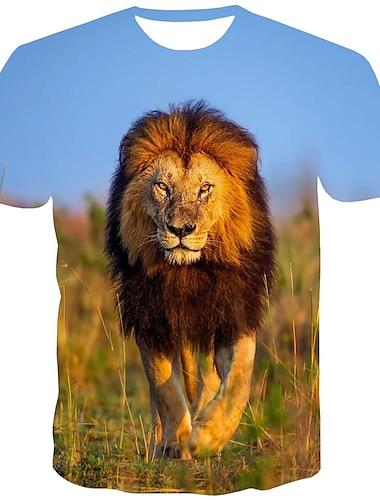 T-shirt Chemise Homme Graphique Normal Imprime Manches Courtes Quotidien Sortie Standard Polyester Chic de Rue Col Rond