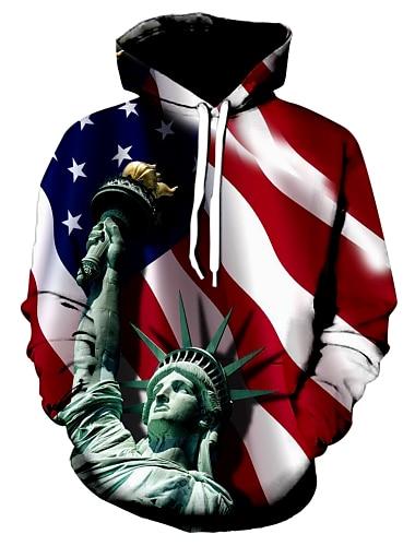 Men\'s Hoodie Graphic Hooded Casual Hoodies Sweatshirts  Red