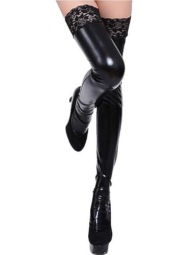 สำหรับผู้หญิง ถุงเท้า ลูกไม้ เลดี้เซ็กซี่ ถุงน่อง บาง 15D สีดำ