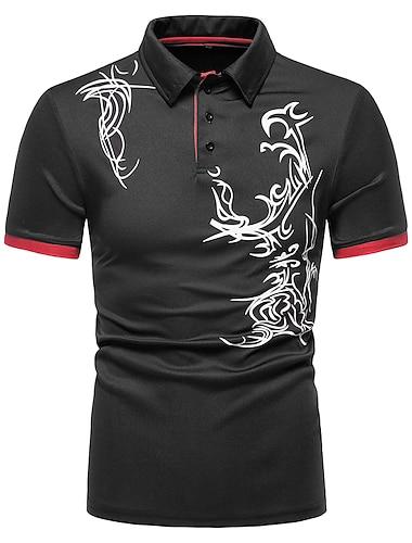 Męskie Koszula golfowa Koszula tenisowa Inne nadruki Graficzny Krótki rękaw Codzienny Najfatalniejszy Spersonalizowane Na zewnątrz Na co dzień / Sportowy Szary Pomarańczowy Biały