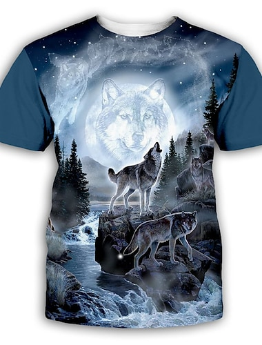 T-shirt Chemise Homme 3D effet Graphique Normal Imprime Manches Courtes Soiree Quotidien Standard Polyester Exagere Col Rond
