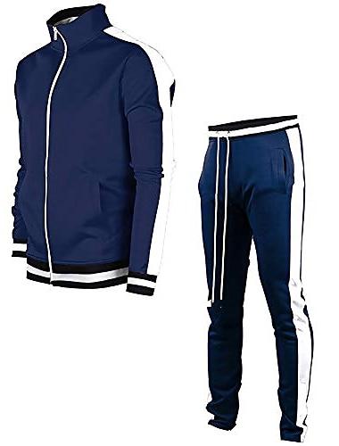 мужской спортивный костюм спортивная одежда джоггеры спортивный комплект на молнии спортивный костюм для подростков, синий, xl