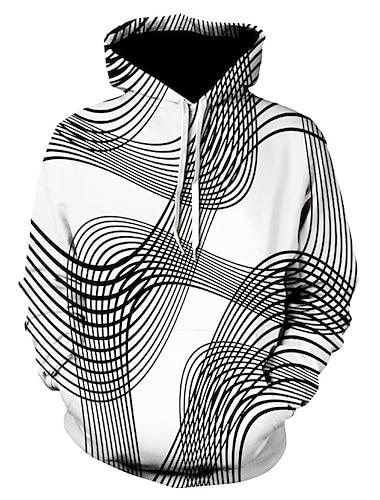 新しいメンズプルオーバー3dデジタルボルテックスプリントトレーナークリエイティブ秋冬フード付き長袖トップスブラウス& #40; xxxl、黒& #41;
