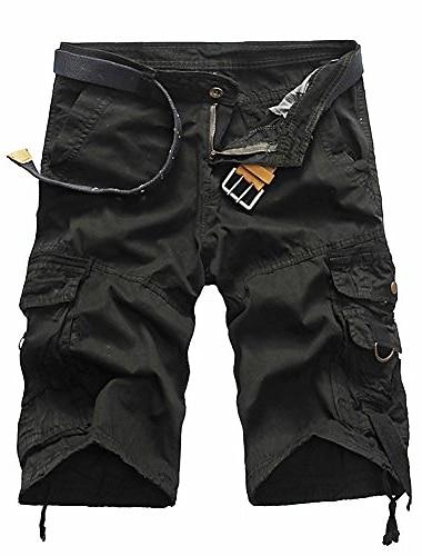 Short cargo decontracte pour homme coupe decontractee multi-poches en plein air kaki d\'ete