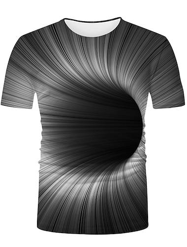 Ανδρικά Γιούνισεξ Κοντομάνικα Μπλουζάκι Πουκάμισο 3D εκτύπωση Γραφική 3D Εκτύπωση Μεγάλα Μεγέθη 3D εκτύπωση Στάμπα Κοντομάνικο Causal Άριστος Βασικό Μοντέρνα Απίθανο Στρογγυλή Λαιμόκοψη
