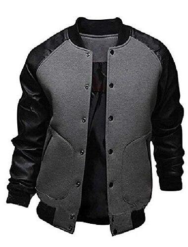 мужская мода сращивание рукавов леттерман куртка университетская бейсбольная куртка-бомбер