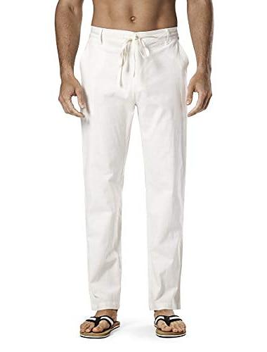 Bărbați Casual Drept Pantaloni Bumbac Casual Îmbrăcăminte Atletică Pantaloni Simplu Kaki Albastru regal Alb Negru / Primăvară / Vară