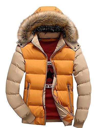 мужские зимние пуховики с меховым капюшоном и толстым стеганым пуховиком
