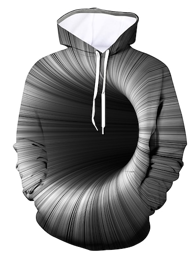 Муж. Большие размеры Толстовка с капюшоном и пуловером Графика Капюшон Повседневные На выход 3D печать На каждый день Толстовки Толстовки Длинный рукав Лиловый Желтый Зеленый