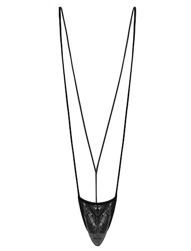 Herr Öppen rygg Sexig Underklädesplagg med strumpeband Bodysuits Natt Enfärgad Silver / Guld / Svart En Storlek