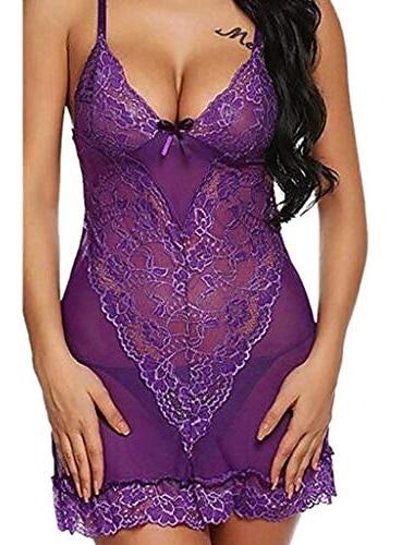 여자 잠옷 최신 큰 크기 레이스 내복 v 목 레이스