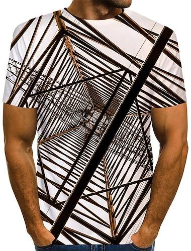 Hombre Camiseta Impresion 3D Grafico Estampado Manga Corta Diario Tops Chic de Calle Negro Azul Piscina Marron claro