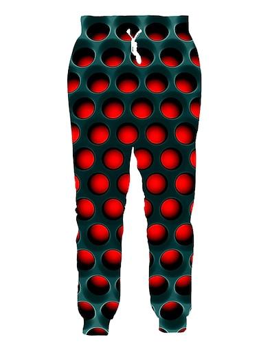 בגדי ריקוד גברים ספורטיבי סגנון רחוב ספורט יומי סוף שבוע מכנסי טרנינג מכנסיים מעוטר 3D באורך מלא ספורטיבי שרוך קשת