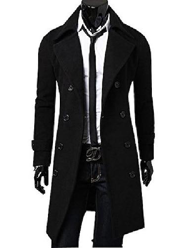 haina bărbătească subțire caldă, dublă cu piept