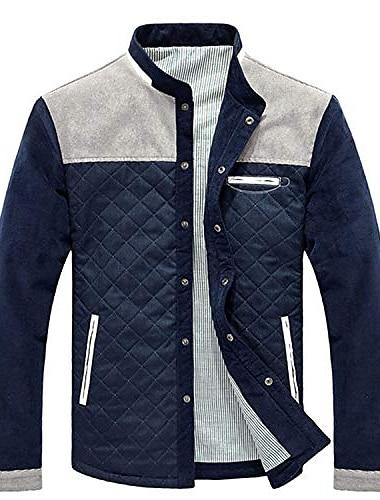 мужская куртка в стиле милитари легкий воротник-стойка повседневное функциональное пальто верхняя одежда пальто (серый, 5x-большой)