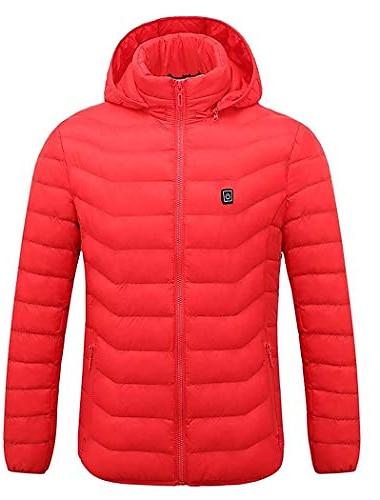 мужская женская куртка с капюшоном с подогревом премиум-класса для езды на мотоцикле, катания на лыжах, зимнего пальто