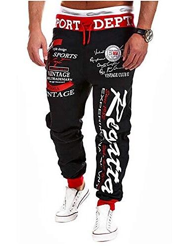 pánské běžci hip hop běžci sportovní harémové kalhoty graffiti streetwear tepláky kalhoty s kapsami (styl A, 34-36 palců)
