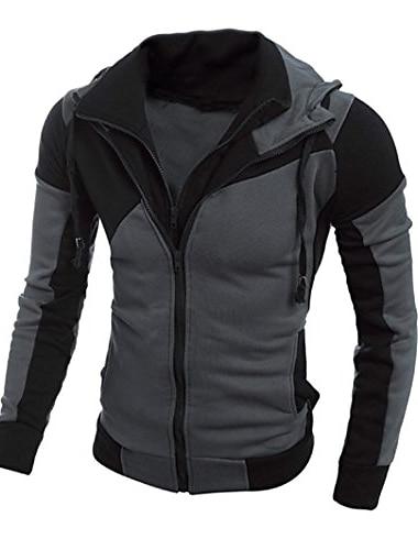 sueter de hombre, abrigo de chaqueta con capucha de hombre con capucha calida (m, negro)