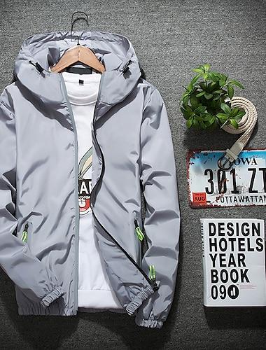 мужская светоотражающая куртка на молнии с худи и непромокаемой ветровкой, походная, велосипедная, беговая, защитная куртка (желтый, xxxl)