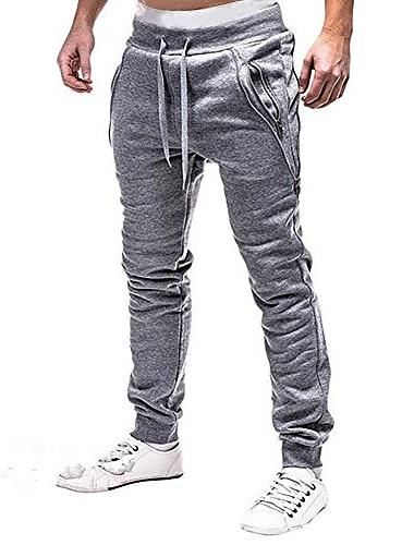 pánské tepláky s kapsami na zip módní běžec sportovní kalhoty kalhoty dlouhé kalhoty běh běhání lightgray
