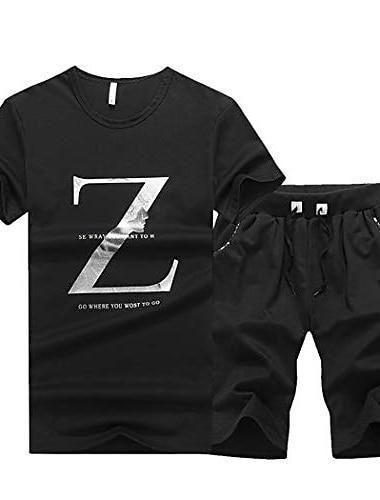 mænd afslappet jakker + bukser to stykker sæt varme tykke hættetrøjer sportswear træningsdragt
