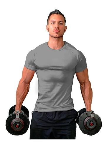 мужские футболки, облегающие, спортивные, бодибилдинг, тренировка, мышцы, тренажерный зал, с коротким рукавом, базовый, повседневный, серый