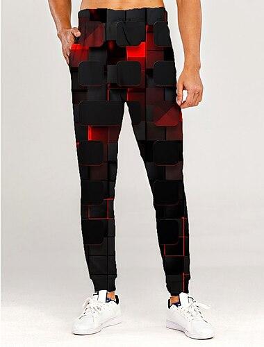 בגדי ריקוד גברים ספורטיבי מכנסי טרנינג חוץ ספורט יומי מכנסיים מכנסי טרנינג מכנסיים גראפי הדפסת 3D 3D באורך מלא ספורטיבי דפוס יין