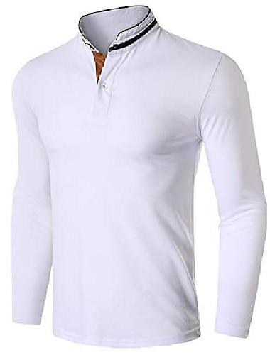 Πουκάμισο γκολφ Πουκάμισο τένις πουκάμισα γκολφ Άριστος Βαμβάκι Λευκό Μαύρο Βαθυγάλαζο