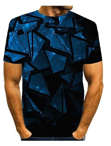 T-shirt Homme 3D effet Graphique 3D Normal 1 pc Imprime Manches Courtes Quotidien Standard Polyester Col Rond