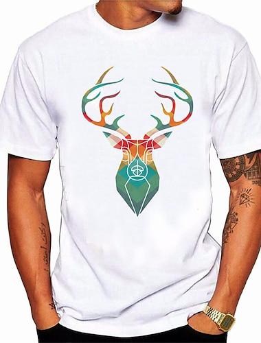 Per uomo Unisex maglietta Stampa a caldo Ogni Animali Taglie forti Con stampe Manica corta Quotidiano Top 100% cotone Essenziale Casuale Bianco