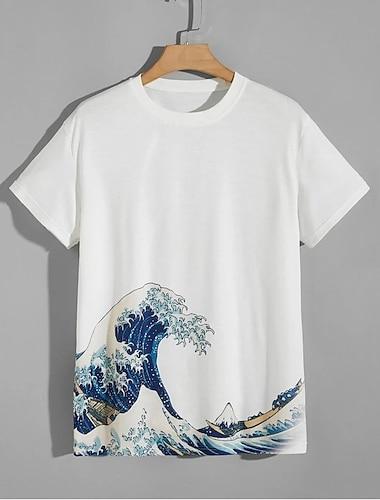 Per uomo Unisex Magliette maglietta Camicia Stampa 3D Spray Taglie forti Con stampe Manica corta Casuale Top Casuale Di tendenza Bianco / Estate