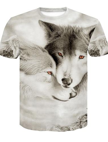 Miesten T-paita 3D-tulostus 3D Niitti Silmukka Lyhythihainen Kausaliteetti Topit Valkoinen Musta