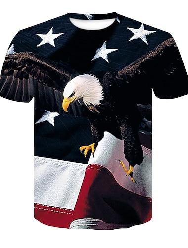Men\'s T shirt Shirt 3D Print 3D Rivet Mesh Short Sleeve Casual Tops Black / Red Black / Gray Gray / White / Summer