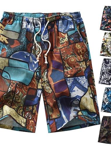 Pánské Boardové šortky Plavat dna Plavky Šňůrky Květinový 1 2 3 4 5 Plavky Plavky Na běžné nošení / Léto / Plážové
