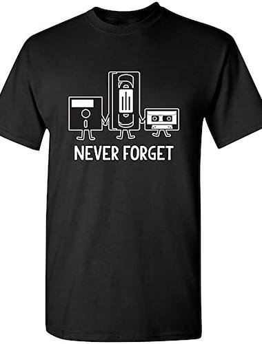 Herre Unisex T-Shirts T-shirt Skjorte Varm Stempling Tekst Grafiske tryk Plusstørrelser Trykt mønster Kortærmet Afslappet Toppe 100 % bomuld Basale Designer Stor og høj Rund hals Blå Gul Lyserød