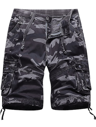 Homme Short Chino Short Ample Pantalon Couleur unie Camouflage vert armee Camouflage gris Camouflage vert armee