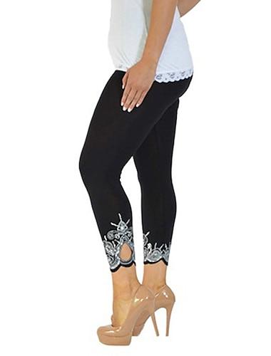 Dámské Jednoduchý Chino Upnuté Kalhoty Denní Kalhoty Bez vzoru Po kotníky Fialová Bílá Černá