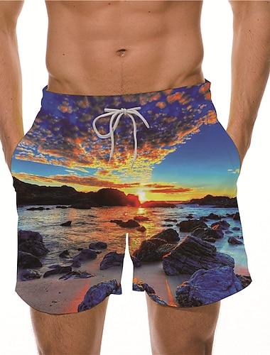 Pánské Boardové šortky Plavky Šňůrky Vodní modrá Světlá růžová Tmavomodrá Plavky Plavky Na běžné nošení / Léto