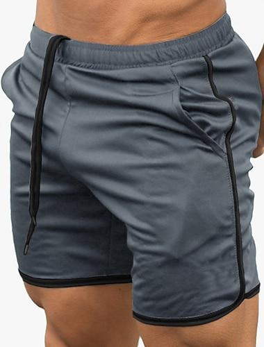 Bărbați Sport & Outdoor Sportiv Ciclism Uscare rapidă Respirabil Sport Activ Pantaloni Scurți Bermude Zvelt sportiv Sală de Fitness Pantaloni Mată Lungimea genunchiului Sport Cordon Albastru piscin