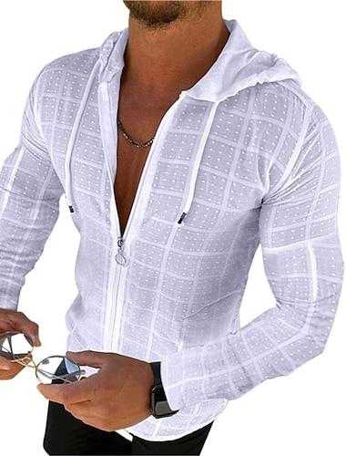 Homens Camisa Social Floral Com Cordao Manga Curta Casual Blusas Casual Moda Respiravel Confortavel Branco Preto Vermelho