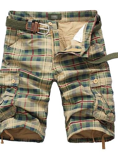 Homme Sportif Decontracte / Sport Vetement de rue Sechage rapide Respirable Doux Short Pantalon cargo du quotidien Des sports Pantalon Treillis Court Cordon Taille elastique Armee verte Jaune / Ete