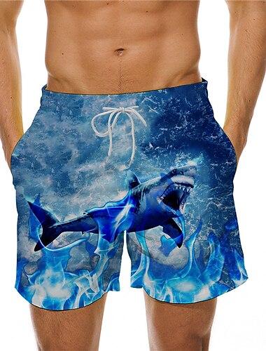 Pánské Boardové šortky Plavky Šňůrky Vodní modrá Plavky Plavky Na běžné nošení / Léto / Plážové