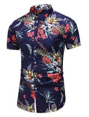 Plus rozmiar 5xl 6xl 7xl letnia męska hawajska koszula z krótkim rękawem moda na co dzień koszula w kwiaty męskie ubrania marki 210522