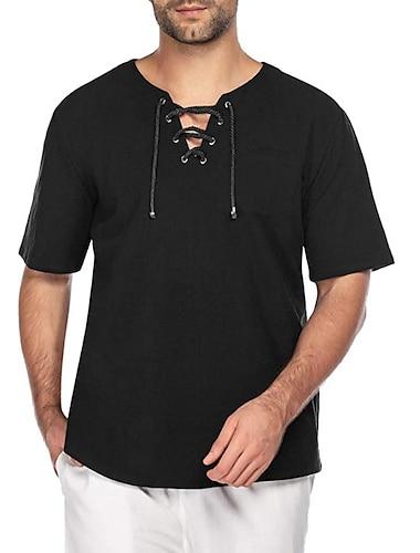 maglietta moda uomo coofandy maglietta in cotone lino maglietta hippie con scollo a v yoga top