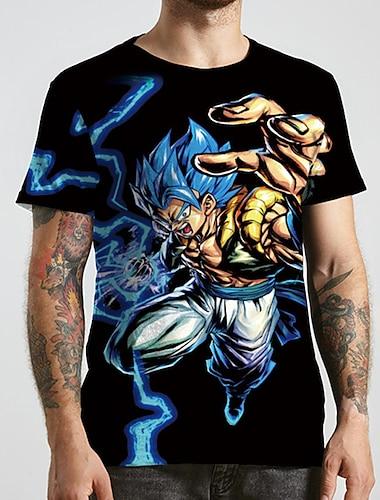 Tee T-shirt Chemise Homme Unisexe 3D effet Anime Imprimes Photos Grandes Tailles Imprime Manches Courtes Decontracte Quotidien Standard Polyester basique Designer Grand et grand Col Rond / Ete