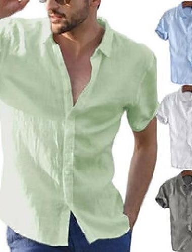 camicia da uomo casual estiva da uomo moda camicie a maniche corte da uomo camicetta da uomo