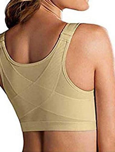 dámská podprsenka pro korekci držení těla bezdrátová zádová podpora, zvedněte přední zapínací podprsenku