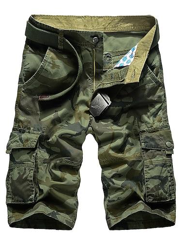 Homme basique Short Pantalon cargo Ample du quotidien Pantalon Camouflage Longueur genou Sportif Vert Veronese Kaki / Ete