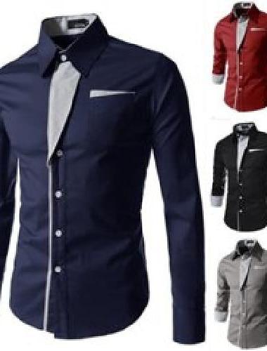 a sosit moda tricouri cu dungi pentru bărbați casual marca de calitate smoking de lux birou slim fit cu mânecă lungă bărbați cămașă dff3250