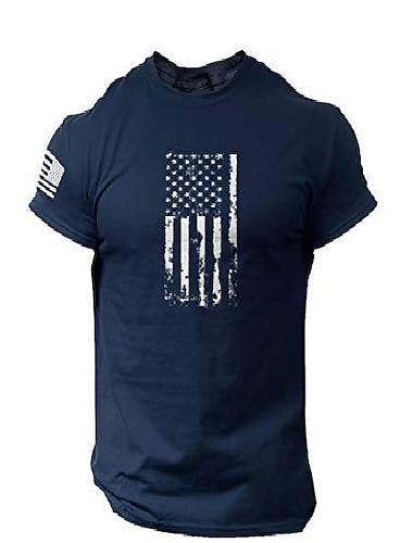 Футболка с флагом америки в стиле изгоев - патриотическая рубашка сша для мужчин (темно-синий, xl)